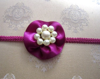 ISABELLA flower headband,Handmade flower belt,Children's headband,Maternity sash,Handmade sash,Bridal sash,Hair accessory,Wedding accessory