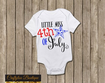 Little Miss 4th of July shirt