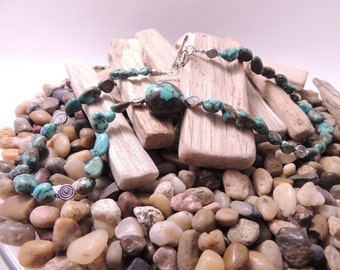Genuine Chunky Turquoise Necklace