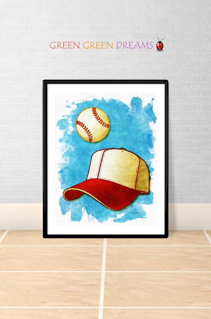 Wall Decorations Sports : Baseball sports print poster wall art decor download