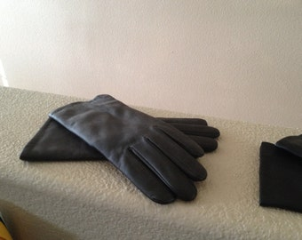It's cold outside!  Lined Faux Leather Gloves