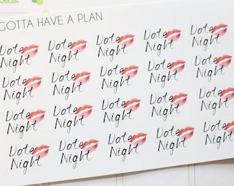 Planner Stickers Date Night for Erin Condren, Happy Planner, Filofax, Scrapbooking