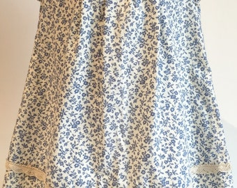 2 T Unique, handmade toddler dress | Vintage Blue Floral Dress | Summer Sundress