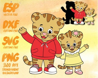 Daniel Tiger family , SVG Cutting , ESP Vectors files , T shirt , iron on , sticker ,Personal Use