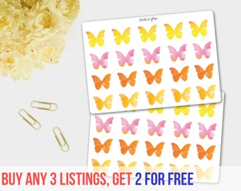 Butterfly Stickers, Deco Stickers, Erin Condren, Happy Planner, Plum Paper Planner