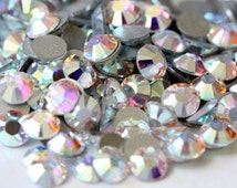 Crystal AB Glass Rhinestones - SS20, 1440 pieces - 5mm Flatback, Round, Loose Bling