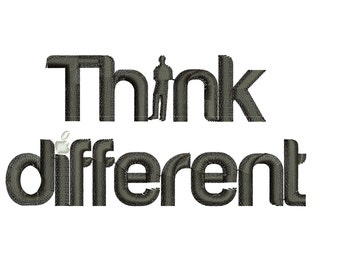 Think Different: Machine embroidery design