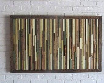 Rustic Wall Art- Modern Rustic Wood Wall Art- Distressed Abstract Wood Wall Art-