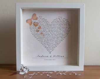 Personalised First Dance Lyrics - Poem - Wedding Print