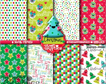 80%OFF - Christmas Digital Paper, COMMERCIAL USE, Christmas Printable Paper, Digital Paper Pack, Christmas Party, Christmas Celebration
