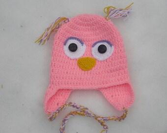 Hat - crochet Beanie - OWL Hat - KU 44-50 cm - OWL - has - cap - headgear - children photography - handmade