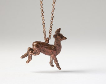 tarnished bronze deer