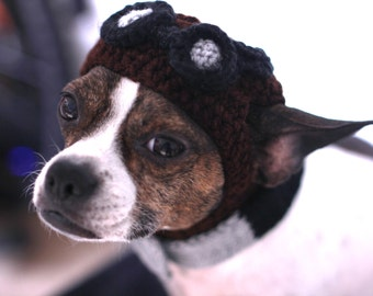 Aviator Dog Hat Cute Steampunk Dog Made to your order