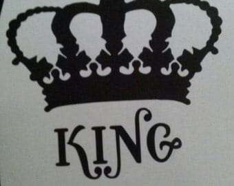 King Crown Stickers Etsy