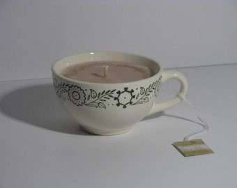 Chocolate teacup candle
