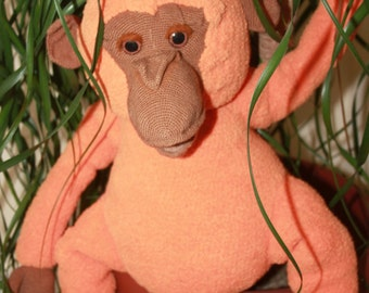Archie-Chimp luck. Monkey, knitted, crochet.
