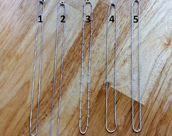 Sterling Silver Chains - Order Add-on
