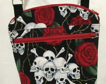 Skull and Roses Cross body Purse