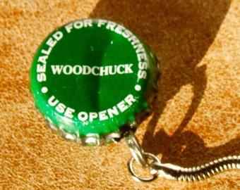 Woodchuck cider cap keychain, cider gift, cider cap keychain, woodchuck cider, cider art, hard cider gift, hard cider keychain
