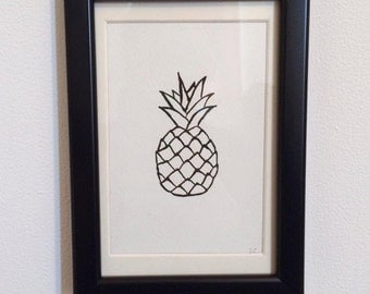 FRAMED - Pineapple // gifts for her // gifts for him // home decor // wall art