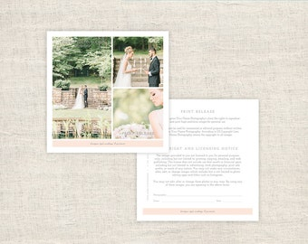 Print Release Photography Form   Photographer Print Release Template   Copyright  Form For Wedding Photographers