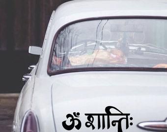 Om Shanti Vinyl Decal