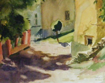 Street - original gouache painting