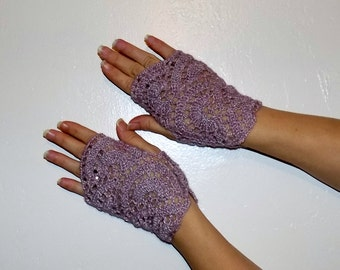 Fingerless Gloves, knit gloves, crochet,for winter, mittens