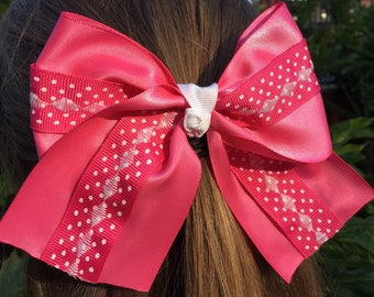 Polka-Dotted Cheer Bow