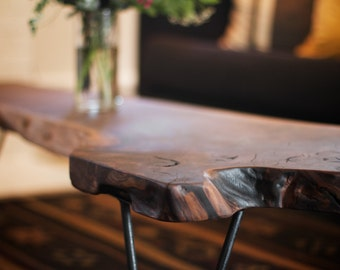 Walnut Coffee Table with Hairpin Legs