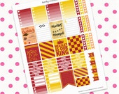 Harry Potter Gryffindor Fall Theme    Printable Planner Stickers    Instant Digital Download