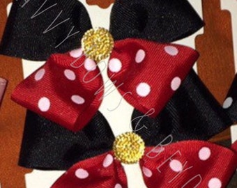 Mickey Mouse and Minnie Mouse Hair Bows