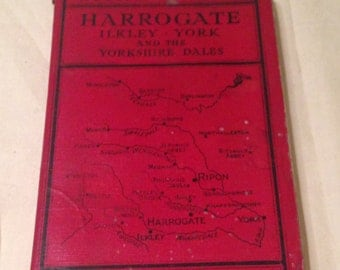 Vintage 1940's Ward Lock's Illustrated Guide Book to the Harrogate, Ilkley, York & the Yorkshire Dales.