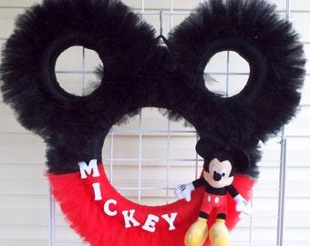 Disney Mickey Mouse Character Door Wreath Decoration W5