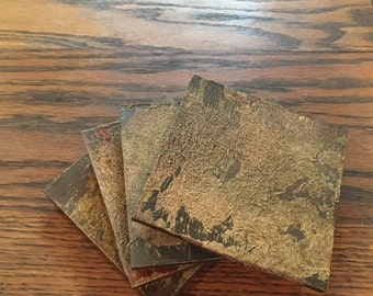 Coaster set, Coasters, Natural Coaster Set, Set of Six Coasters, Earthy Coasters,