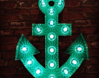Light Up Turquoise Anchor