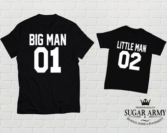 Big man Little man matching shirts, Dad And Baby Matching Shirts, Daddy Son Matching outfit, Father Son Matching Shirts fathers day gift