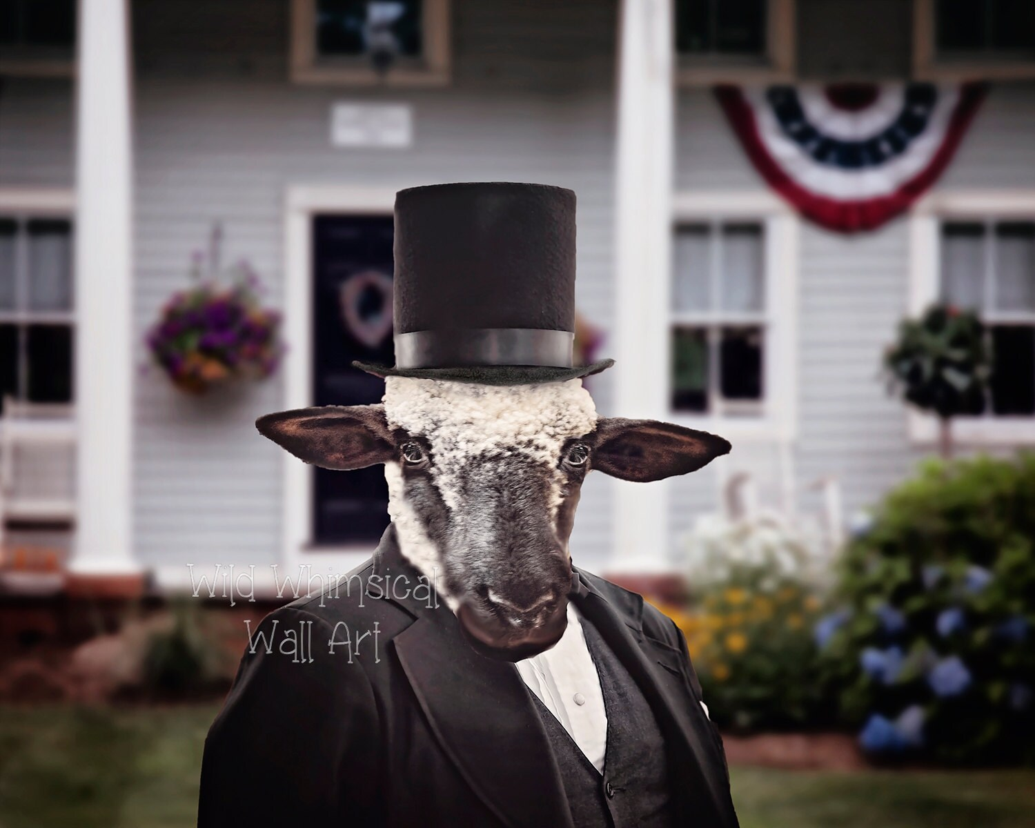 Funny president portrait comical sheep portrait home decor for Funny home decor