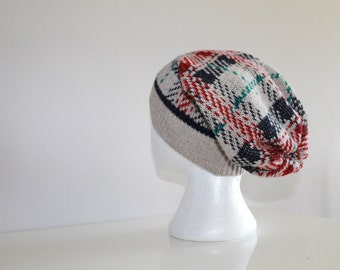 Warm slouchy toque - made from a repurposed sweater!