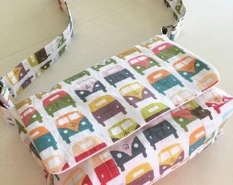 VW messenger bag-VW bag-VW purse-handmade bag-messenger bag-Christmas gift-birthday gift