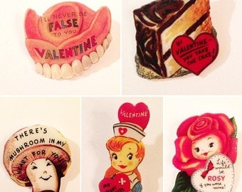 Reproduction Vintage Valentine Pins