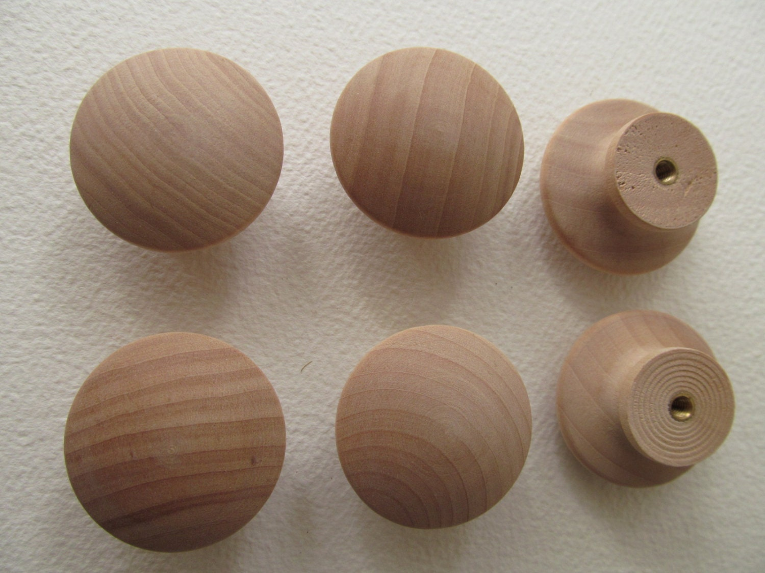 Wooden Drawer Cabinet Knobs With Insert And Screws
