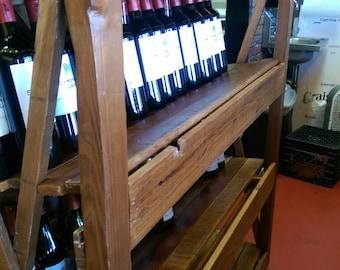 Reclaimed cedar shelving with 10degree option for wine bottles