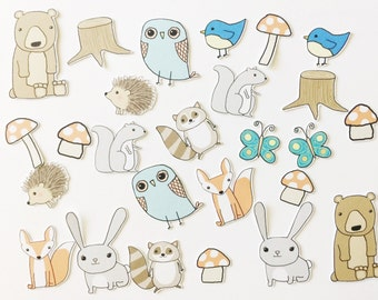 Woodland Animal Die Cuts