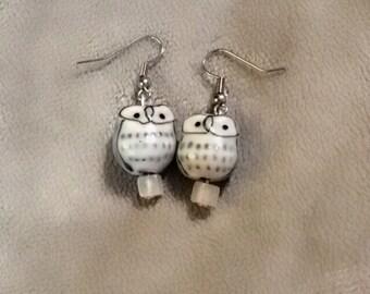 Snow Owl Country/Boho Gift for Her earrings