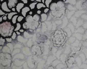 silk black and white kimono