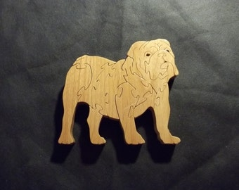American Bulldog Puzzle  handmade