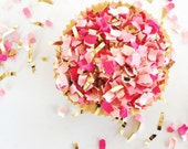 Pink Confetti | Pretty in Pink | Party Confetti | Gender Reveal | It's a Girl | Decor | Pink and Gold