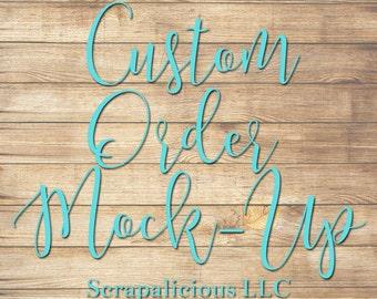 Custom Wood Sign/Pallet Mock Up