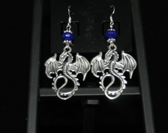 FT1002-Dragon Sapphire Earrings